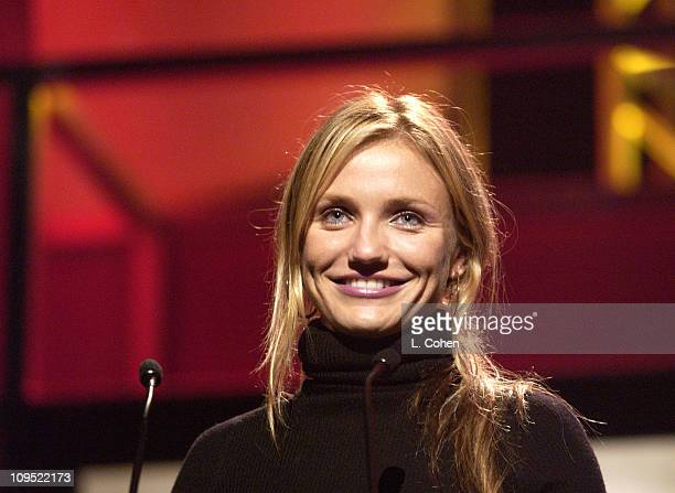 Cameron Diaz during Britney Spears Receives 2002 Children's Choice Award at Neil Bogart Memorial Fund's Bogart Tour for a Cure Show at Universal...