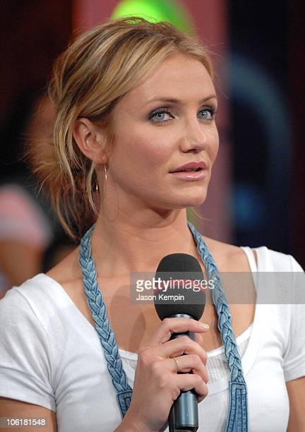 Cameron Diaz during Cameron Diaz Ciara Rihanna and Mims Visit MTV's TRL May 8 2007 at MTV Studios in New York City New York United States