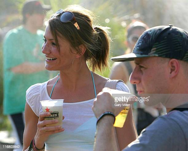 Cameron Diaz during Coachella Valley Music and Arts Festival Day 3 Sightings at Empire Polo Field in Indio California United States
