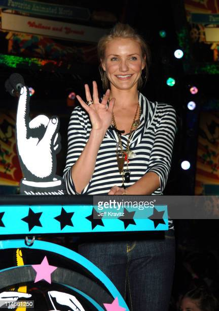 Cameron Diaz during Nickelodeon's 19th Annual Kids' Choice Awards - Backstage and Audience at Pauley Pavillion in Westwood, California, United States.