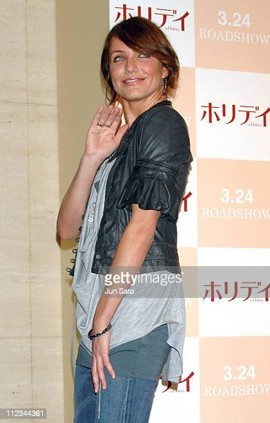 """Cameron Diaz during """"The Holiday"""" Tokyo Press Conference - Photocall at Park Tower Hall in Tokyo, Japan."""