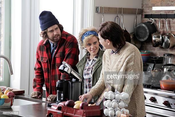 LIVE Cameron Diaz Episode 1669 Pictured Taran Killam Kate McKinnon and Vanessa Bayer during the Nestspresso skit on November 22 2014