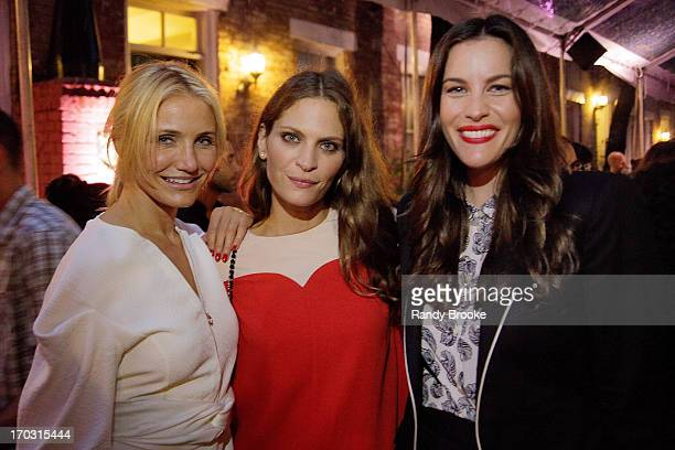 Cameron Diaz Frankie Rayder and Liv Tyler at West 10th Street on June 10 2013 in New York City