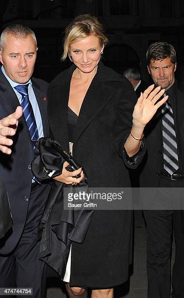 Cameron Diaz is seen arriving at the after party of her film 'Gambit' on November 07 2012 in London United Kingdom