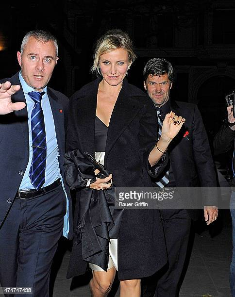 Cameron Diaz is seen arriving to the after party of her movie 'Gambit' on November 07 2012 in London United Kingdom