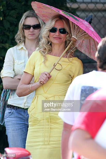 Cameron Diaz is seen on location for Bad Teacher on March 29 2010 in Los Angeles California