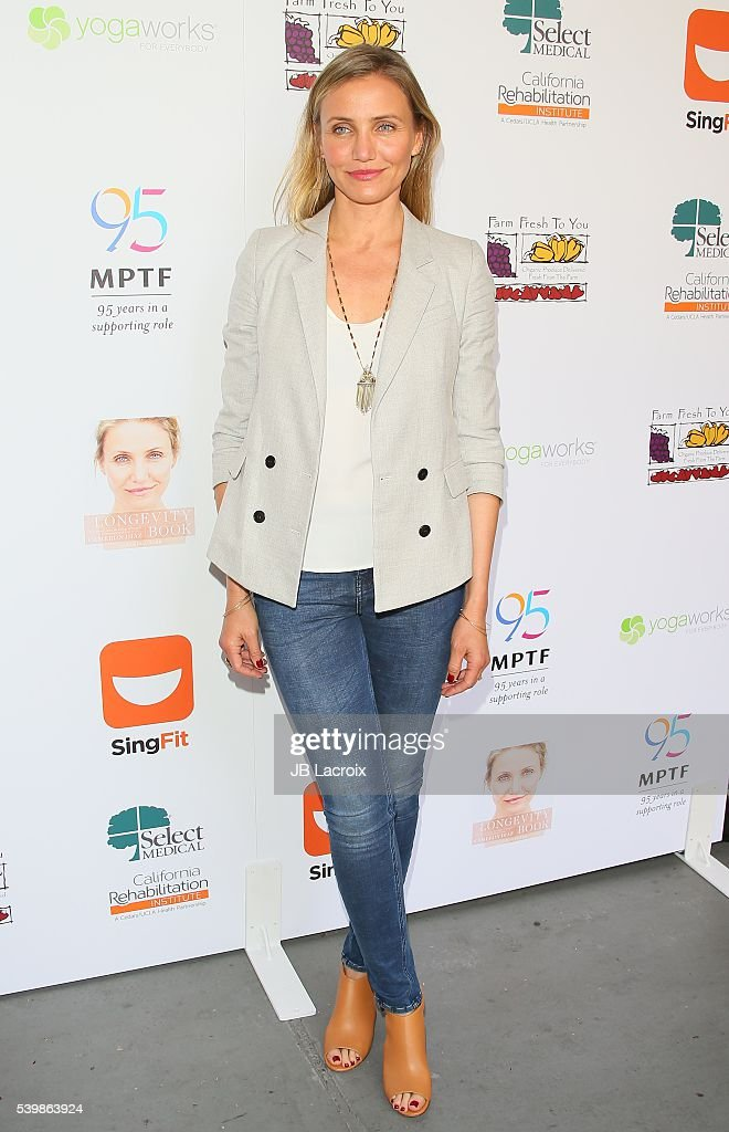 Cameron Diaz joins MPTF to celebrate Health and Fitness at The Wasserman Campus on June 10, 2016 in Woodland Hills, California.