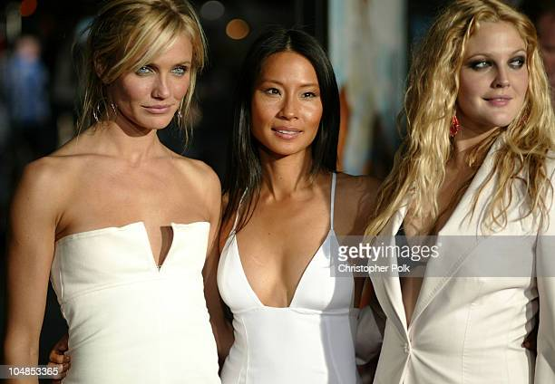 """Cameron Diaz, Lucy Liu and Drew Barrymore during Premiere of """"Charlie's Angels: Full Throttle"""" at Grauman's Chinese Theatre in Hollywood, California,..."""