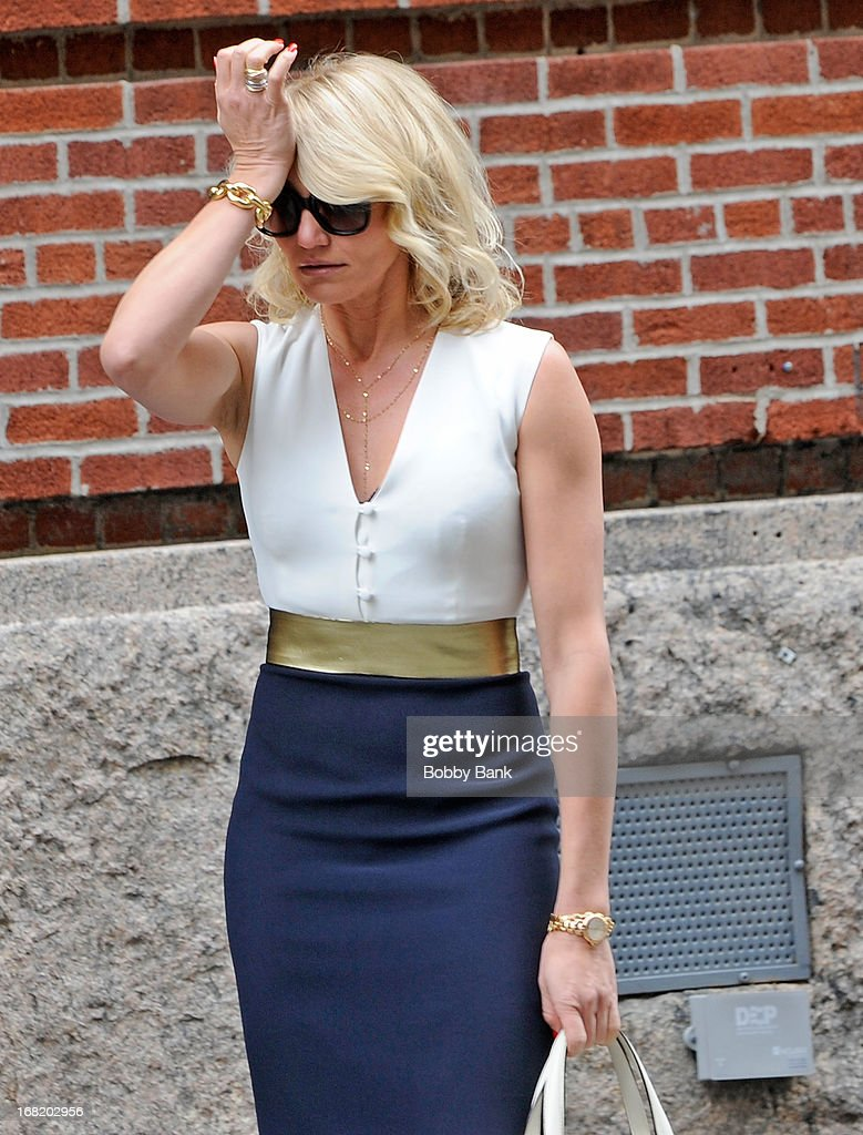 Cameron Diaz on location for 'The Other Woman' on May 6, 2013 in New York City.