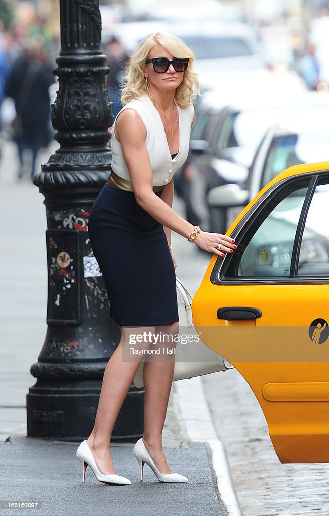 Cameron Diaz seen on the set of 'The Other Woman'on May 6, 2013 in New York City.
