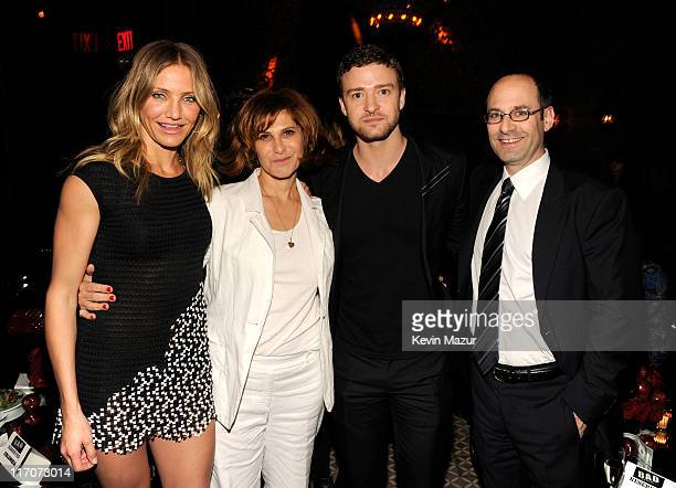 Cameron Diaz Sony Pictures Entertainment CoChairmain Amy Pascal Justin Timberlake and Columbia Pictures President Doug Belgrad attend the after party...