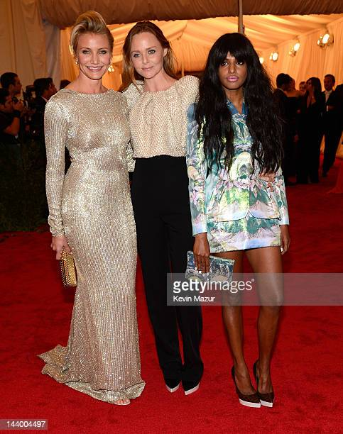 Cameron Diaz Stella McCartney and MIA attend the Schiaparelli And Prada Impossible Conversations Costume Institute Gala at the Metropolitan Museum of...