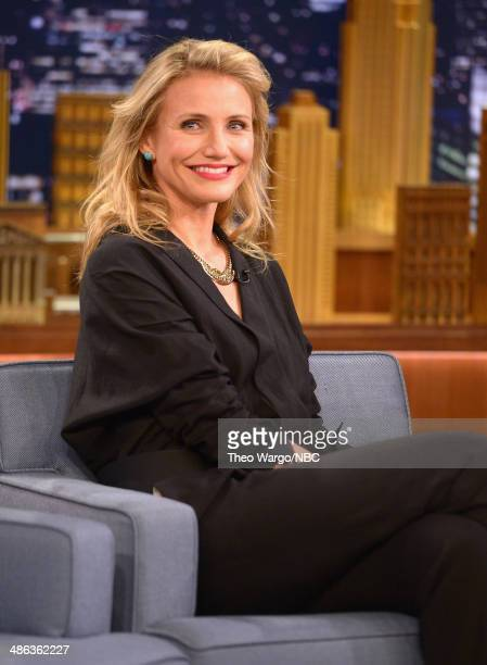 Cameron Diaz visits 'The Tonight Show Starring Jimmy Fallon' at Rockefeller Center on April 23 2014 in New York City