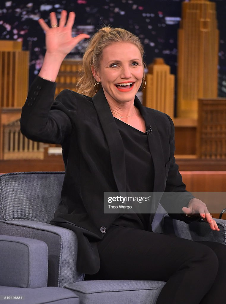 Cameron Diaz Visits 'The Tonight Show Starring Jimmy Fallon' at NBC Studios on April 6, 2016 in New York City.