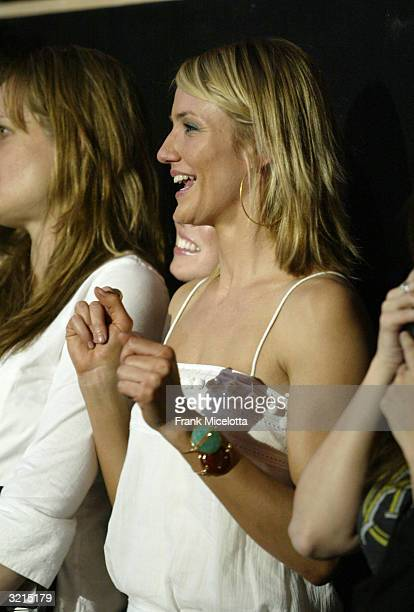 Cameron Diaz watches backstage during Nickelodeon's 17th Annual Kids' Choice Awards at Pauley Pavilion on the campus of UCLA April 3 2004 in Westwood...