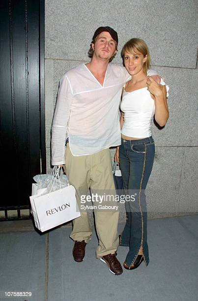 "Cameron Douglas and Jennifer Gatien during Revlon and Marie Claire Host ""Absolutely Fabulous"" Party at Cherry Bar in New York City, NY."
