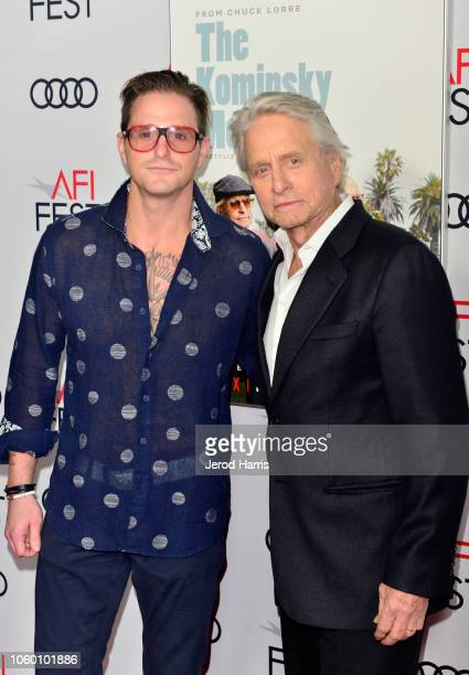 Cameron Douglas and Michael Douglas attend the Gala Screening of The Kominsky Method at AFI FEST 2018 Presented By Audi at TCL Chinese Theatre on...