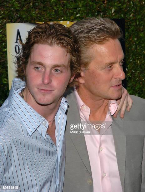 Cameron Douglas and Michael Douglas