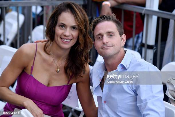 Cameron Douglas and Viviane Thibes attend the ceremony honoring Michael Douglas with star on the Hollywood Walk of Fame on November 06, 2018 in...