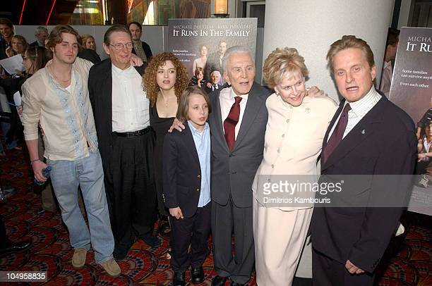 Cameron Douglas Director Fred Schepisi Bernadette Peters Rory Culkin Kirk Douglas Diana Douglas and Michael Douglas