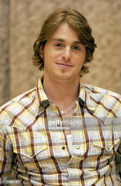 "Cameron Douglas during ""It Runs in the Family"" Press Conference with Michael Douglas, Kirk Douglas, Diana Douglas and Cameron Douglas at The Four..."
