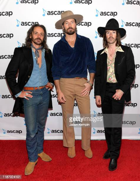 Cameron Duddy Mark Wystrach and Jess Carson of Midland attend the 57th Annual ASCAP Country Music Awards on November 11 2019 in Nashville Tennessee
