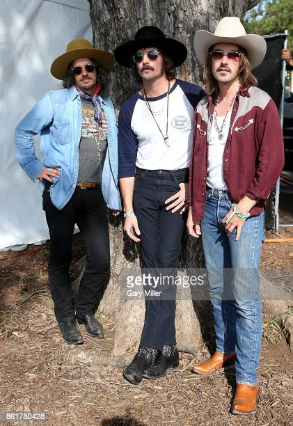 Cameron Duddy Mark Wystrach and Jess Carson of MIDLAND attend the last day of the Austin City Limits Music Festival at Zilker Park on October 15 2017...