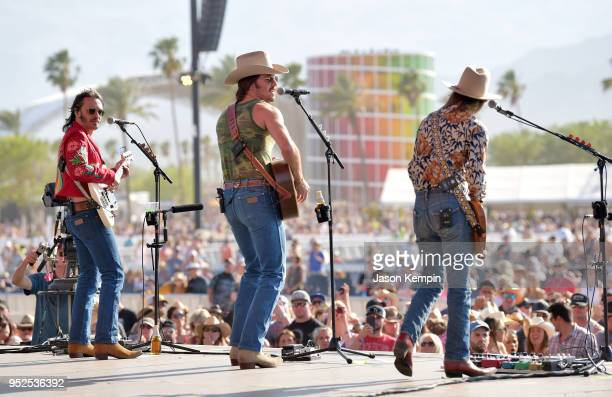 Cameron Duddy Mark Wystrach and Jess Carson of Midland perform during 2018 Stagecoach California's Country Music Festival at the Empire Polo Field on...
