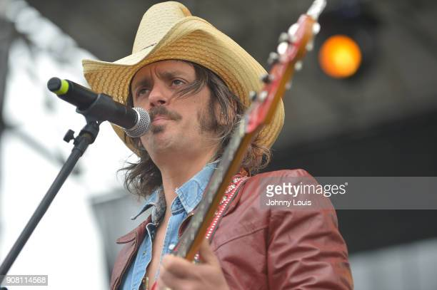 Cameron Duddy of Midland performs onstage at the 33rd Annual Kiss 999 Chili Cookoff at CB Smith Park on January 20 2018 in Pembroke Pines Florida