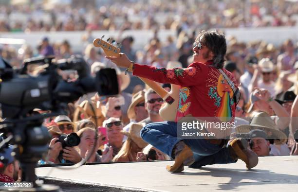 Cameron Duddy of Midland performs onstage during 2018 Stagecoach California's Country Music Festival at the Empire Polo Field on April 28 2018 in...