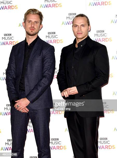 Cameron Edwards and Joe Lenzie of Sigma attend the BBC Music Awards at Earl's Court Exhibition Centre on December 11 2014 in London England