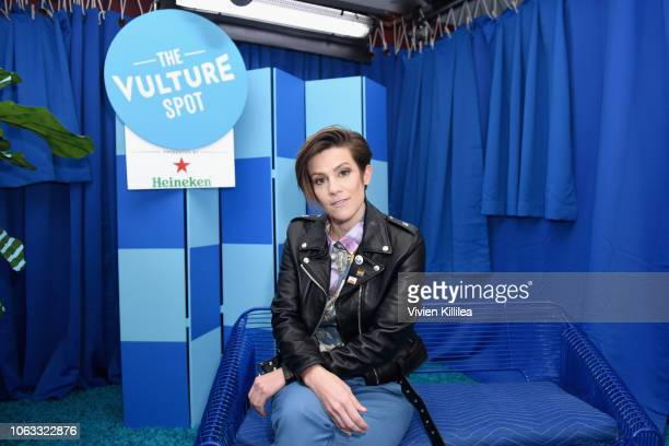 Cameron Esposito attends 'Rachel Bloom In Conversation' during Vulture Festival Presented By ATT at Hollywood Roosevelt Hotel on November 18 2018 in...