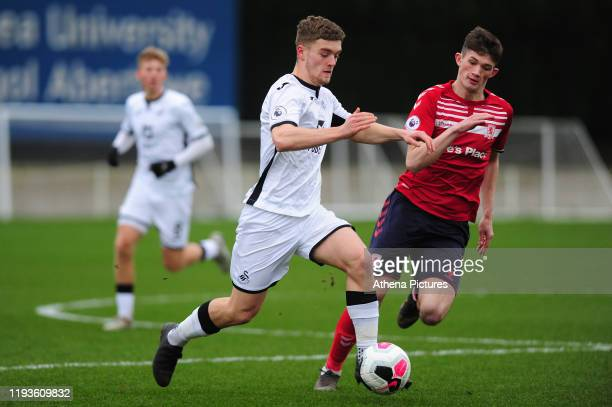 Cameron Evans of Swansea City u23 during the Premier League 2 Division Two match between Swansea City u23s and Middlesbrough u23s at Swansea City AFC...