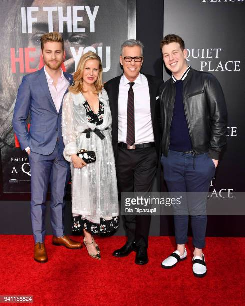 Cameron Fuller Alexandra Fuller Producer Brad Fuller and Paxton Fuller attend the 'A Quiet Place' New York Premiere at AMC Lincoln Square Theater on...