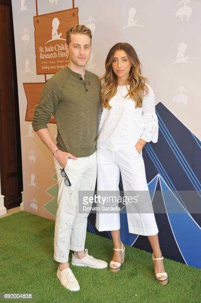 Cameron Fuller and Lauren Elizabeth at the Brooks Brothers Beverly Hills summer camp party benefitting St Jude Children's Research Hospital at Brooks...