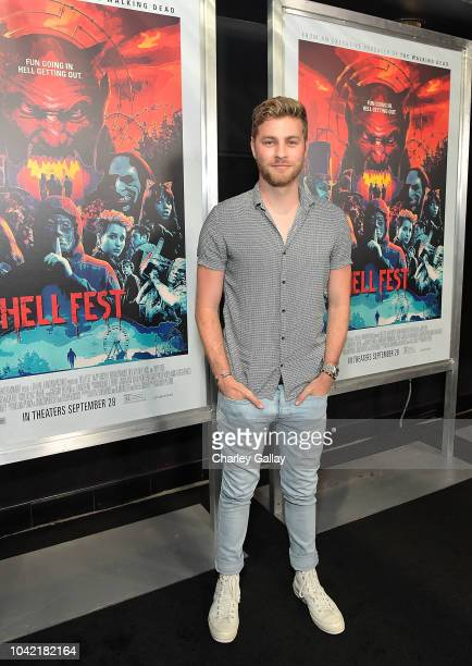 Cameron Fuller attends the Opening Night Screening Of HELL FEST at the TCL Chinese 6 Theater on September 27 2018 in Hollywood California