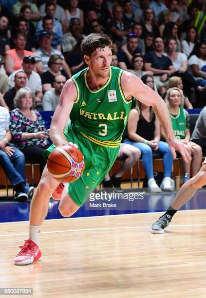 Cameron Gladden of Australia during the FIBA 2019 Asia Cup Qualifier match between the Australian Boomers and Japan at Adelaide Arena on November 27...