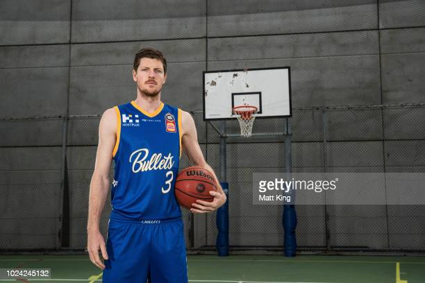 Cameron Gliddon of the Brisbane Bullets poses during the NBL First Ever Apparel Uniform Launch athe the Ultimo Community Centre on August 27 2018 in...