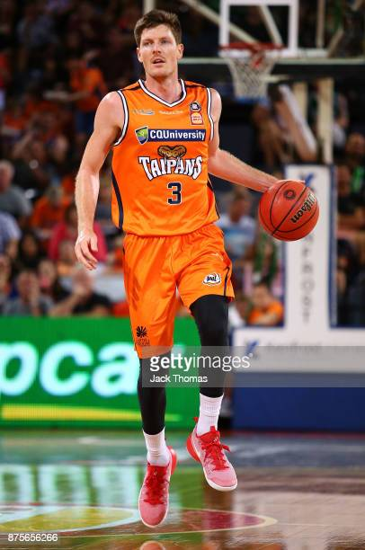 Cameron Gliddon of the Cairns Taipans dribbles the ball during the round seven NBL match between Cairns and Illawarra at Cairns Convention Centre on...