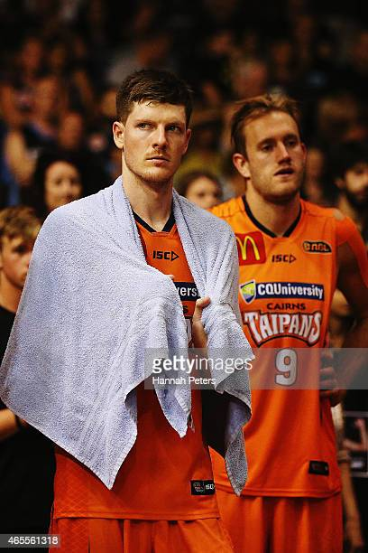 Cameron Gliddon of the Taipans looks on after losing game two of the NBL Grand Final series between the New Zealand Breakers and the Cairns Taipans...