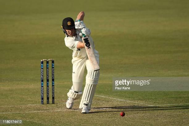 Cameron Green of Western Australia bats during day one of the Sheffield Shield match between Western Australia and Tasmania at WACA on October 10...