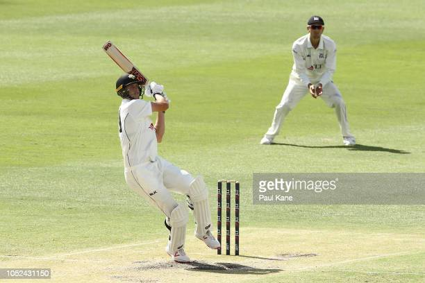 Cameron Green of Western Australia bats during day three of the Sheffield Shield match between Western Australia and Victoria at the WACA on October...
