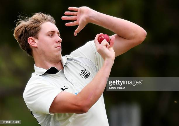 Cameron Green of Western Australia bowls during day two of the Sheffield Shield match between Western Australia and Tasmania at Gladys Elphick Park...