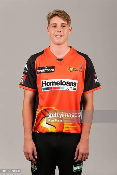 Cameron Green poses during a Perth Scorchers Big Bash League headshots session at WACA on November 9 2017 in Perth Australia