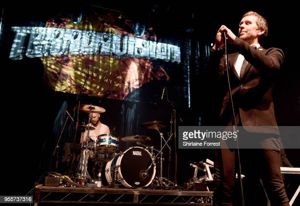 Cameron Greenwood and Tony Wright of Terrorvision performs live on stage at O2 Academy Manchester on May 4 2018 in Manchester England
