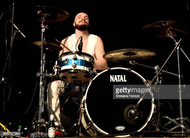 Cameron Greenwood of Terrorvision performs live on stage at O2 Academy Manchester on May 4 2018 in Manchester England