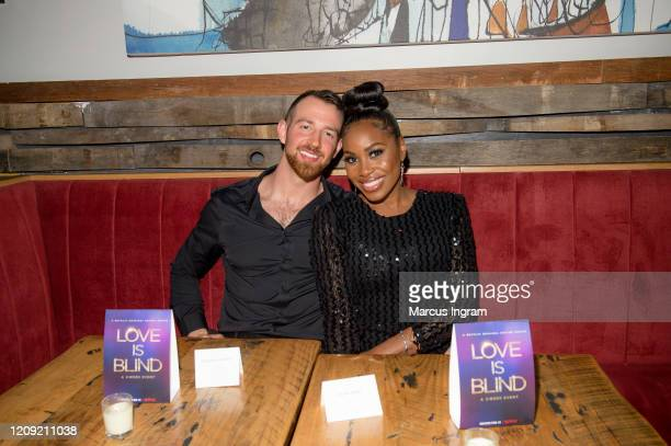 Cameron Hamilton and Lauren Speed attend the Netflix's Love is Blind VIP viewing party at City Winery on February 27 2020 in Atlanta Georgia