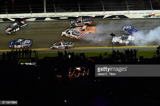 Cameron Hayley driver of the Cabinets by Hayley Toyota Daniel Suarez driver of the ARRIS Toyota and Ben Kennedy driver of the JACOB Companies Toyota...