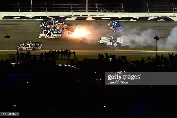 Cameron Hayley driver of the Cabinets by Hayley Toyota Rico Abreu driver of the Safelite Auto Glass Toyota Daniel Suarez driver of the ARRIS Toyota...