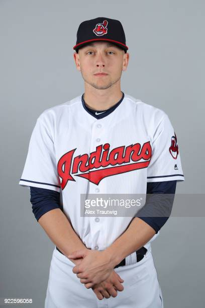 Cameron Hill of the Cleveland Indians poses during Photo Day on Wednesday February 21 2018 at Goodyear Ballpark in Goodyear Arizona